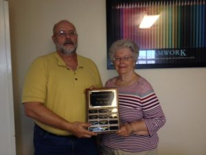CCJ honors Carolyn Brockman with the 2016 Volunteer of the Year award. It is her second.